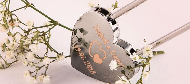 Liebesschloss-Designer Herzschloss in rosé