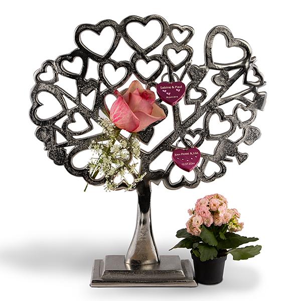 Liebesschloss-Baum aus Metall