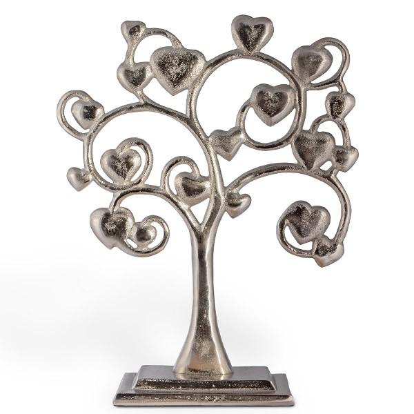 Großer Liebesschloss-Baum aus Metall mit Herzen