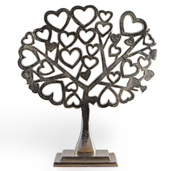 Großer Liebesschloss-Baum aus Metall mit kleinen Herzen