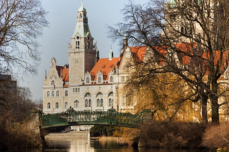 Die Marschbrücke in Hannover