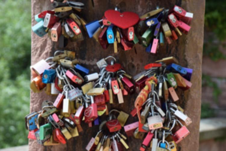 Liebesschlösser in Heidelberg